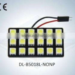 LED Auto Light Dome Lamp No Polarity 18SMD 5050 with CE