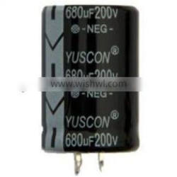 Non solvent-proof type aluminum electrolytic capacitors