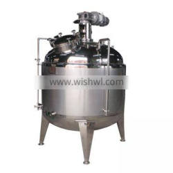 Stainless steel sanitary food grade electric heating emulsified tank 1000L