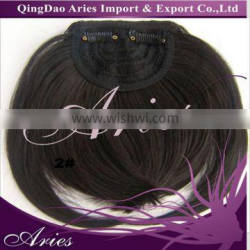 Black Synthetic Hair Clip On Front Inclined Bangs Extension Beautiful Piece!
