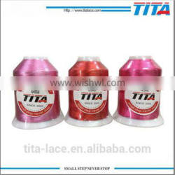Trilobal color polyester thread for embroidery 120d/2 3000 4000 m/y