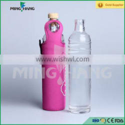 High quality glass water bottle , beverage glass bottle with nylon sleeve