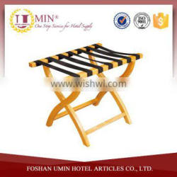Luggage Rack with Sturdy Webbing by Wooden Mallet