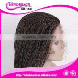 New fashion lace front wig with baby hair synthetic wig african braided wig