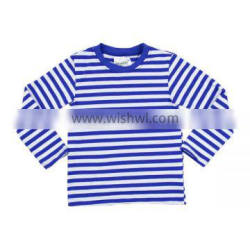 Baby girls top design round neck stripe custom kids girls t -shirt toddler long sleeve t shirts