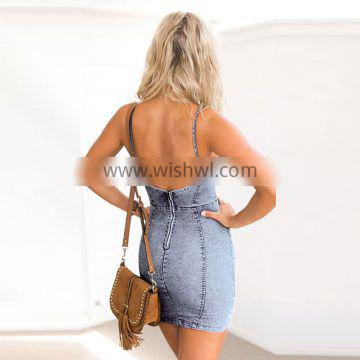 Size Package Hip Ladies Blue Jean Skirts