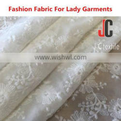 JC3383 shaoxing high quality 100% polyester chiffon curtain with embroidery