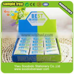 China office school Stationery White Erasers With Display Box