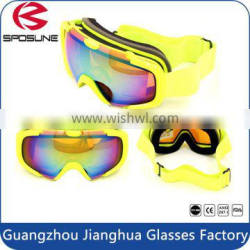 New style popular youth snowboarding goggles anto fog yellow frame snow goggles