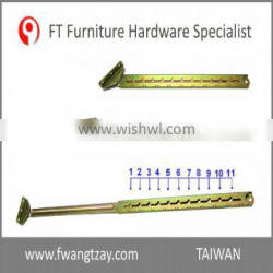Taiwan Made 11 Position Industrial Furniture Adjustable Angle Extension Door Desk Table Bed Sofa Metal Backrest Hinge