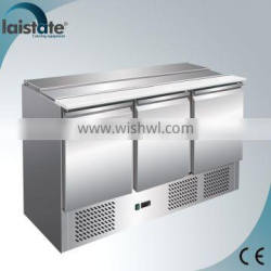 3 Door Stainless Steel Refrigerated Salad Working Table