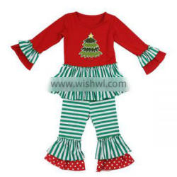 Wholesale cute baby christmas outfits kids christmas clothing set kids christmas clothing set girls fall boutique outfits