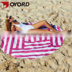 High Quality Personalized Trending Products wholesale printed Large Round Beach Towel