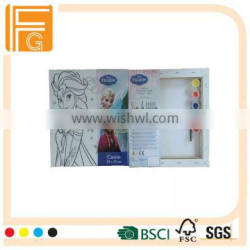 Painting Canvas Set For Kids With Different Picture For Acrylic Color Set