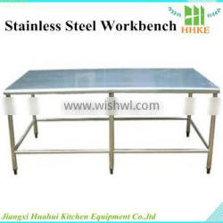 Stainless Steel Industrial Work Table Reinforced Frame Resturant Kitchen Work Table Portable Work Table