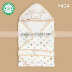 100% cotton polyester bear hooded embroider baby towel blanket