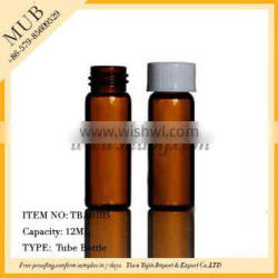 Wholesale 12ml amber glass bottle for essential oil with screw plastic cap