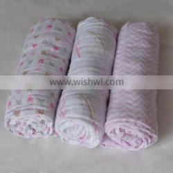 low price Most popular printed baby muslin swaddle blanket