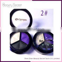 3 Colour Shimmer Eye shadow with Changeable Square Pan