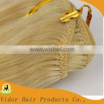 Hot Selling Wholesale 100% Hand Tied Virgin Indian Remy Hair Weft