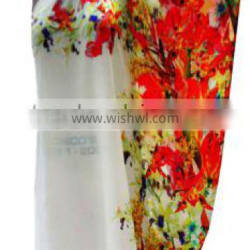 The red pattern Evening Print Dress Printed Dress / Causal Dress Garment Printing