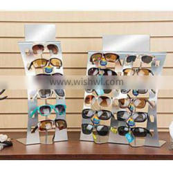 Eyeglass Display, Countertop, Holds 12 Pairs - Silver