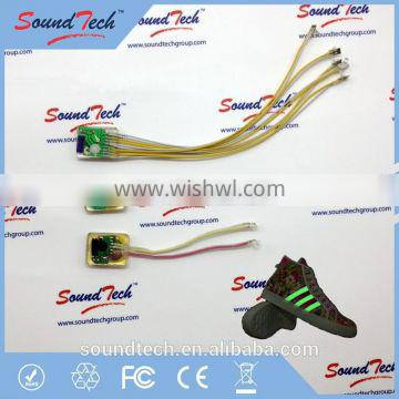 Shoes parts LED 7 colors waterproof rechargeable shoes