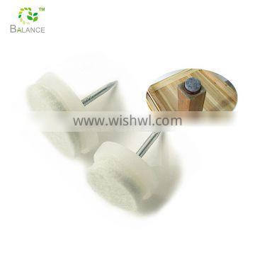 Household heavy duty iron felt pads with nail screw feet pin for floor glide