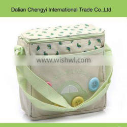 2015 Simple canavs shoulder cute customized diaper bags for baby