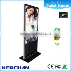 Floor standing lg screen 55 inch interactive multi touch table/ethernet lan wifi network lcd advertising monitor