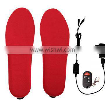 More than 300 cycles charged and discharged heated insole Foot warmers Electric heat insole