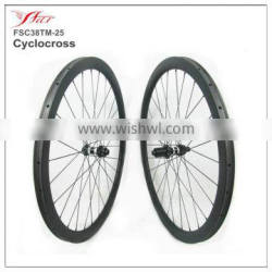 Farsports cyclocross disc road 38mm carbon tubular wheels with DT350S hub