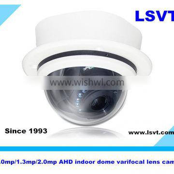 Low price 1.0MP/1.3MP/2.0MP, 720P/960P/1080P HD indoor AHD dome cameras, CCTV cameras with IR cut, varifocal lens, LSVT YH850
