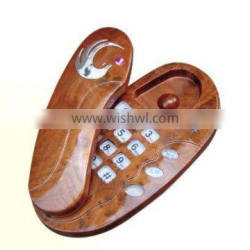 Cheap OEM Trim Line Corded Phone with Woodiness Grain