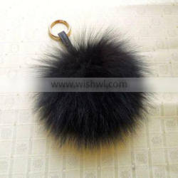 Cute New Fashion Fox fur Pompon Ball Keychain with Cheap Price by Factory Direct Sale