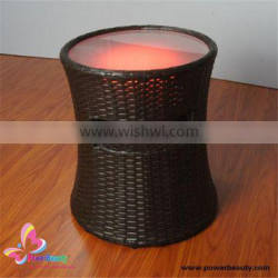 2015 active high top quality outdoor waterproof wireless round rattan table with led light bluetooth speaker