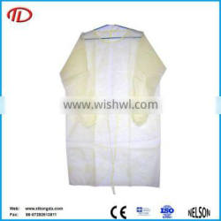 nonwoven pp+pe sterile disposable surgical isolation gown