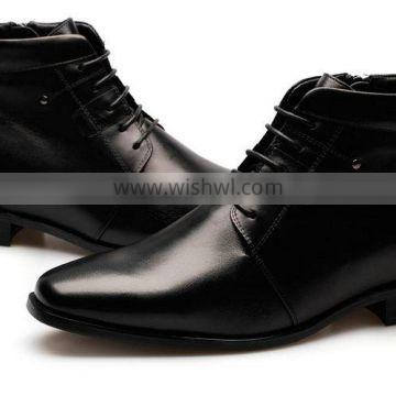 Bulk wholesale genuine leather lace-up ankle branded men loafer boots