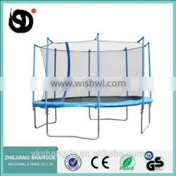 14ft big heavy duty adult inflatable trampoline with child safety net