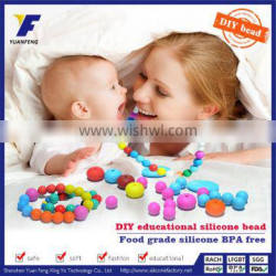 food grade chewing bulk loose beads for baby nursing necklace jewelry diy