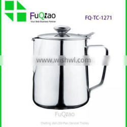 High Quality Dinkware insulated Stainless Steel Steaming Frothing Pitcher Milk Jug with lid