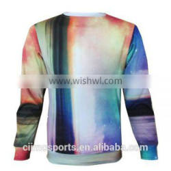 100 % Polyester Sublimation All Over Printing Crewneck Men's Sweatshirt Hoodie