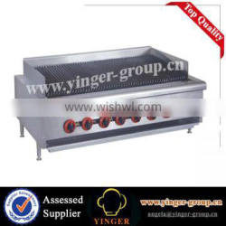 YGQR-48 Counter Top Commercial 2-Burner Gas Charcoal Grill