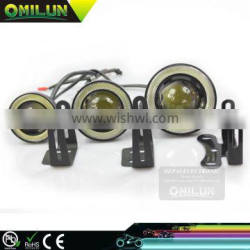 2016 New Design 3inch 76mm 30W LED Fog Angel eyes light with optical glass Lens for most of cars