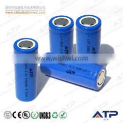 Wholesale cheap rechargeable lifepo4 18500 battery / 18500 3.2v lifepo4 battery / 3.2v 1100mah 18500 li-ion battery