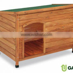 Wooden kennel at roof. Small