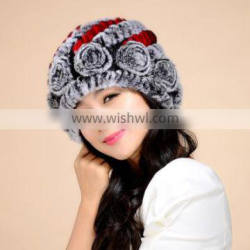Korean Style Fur Knitted Caps And Hats Women Popular Hats Fashion Caps