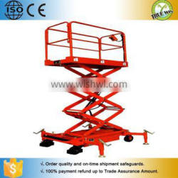 Handling truck With driving wheels scissor lift table / Electric scissor elevator table
