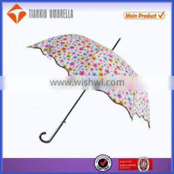 Cartoon dot cheap Promotional straight lace umbrella for promotion,lace umbrella for kids