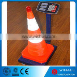 Portable road safety product foldable waterproof cone for driving